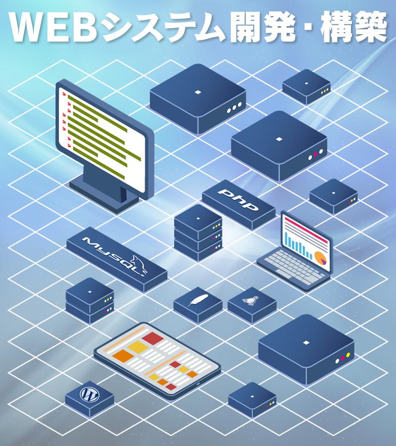 LAMP(Linux・Apach・MySQL・PHP)環境での、さまざまなWEBシステムの開発・構築を、幅広く承っております。